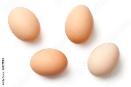 Foto Eggs Isolated on White Background