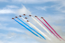 The Red Arrows In Patriotic Re...