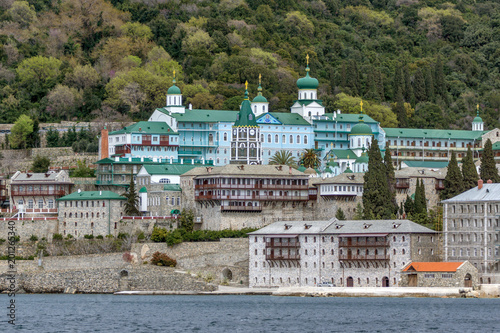 Fotografie, Obraz  Saint Panteleimon (Saint Pantaleon) Monastery at Mount Athos in Autonomous Monas