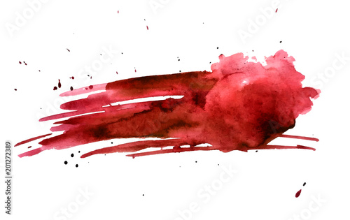 Pinturas sobre lienzo  Blood splatter painted vector isolated on white for halloween design
