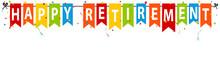 Happy Retirement Banner - Vect...