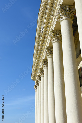 Foto op Aluminium Oude gebouw Greek and Roman antique architecture. Historical building with antique columns