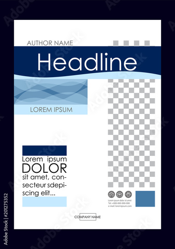 Editable Vector A4 Business Book Cover Layout Design Template For