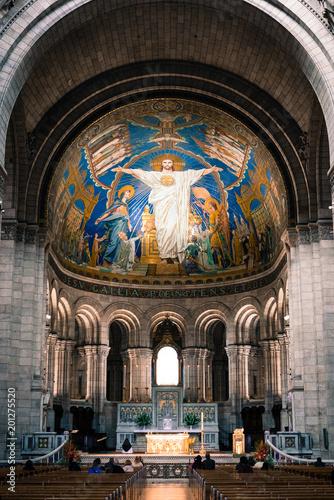 Sacre Coeur at Montmartre Interior фототапет