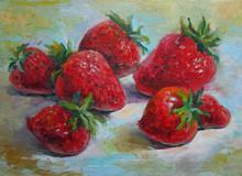 Strawberries, Original Oil Pai...