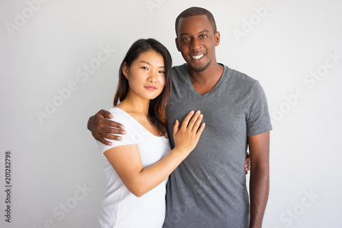 Interracial girlfriend asian on bed