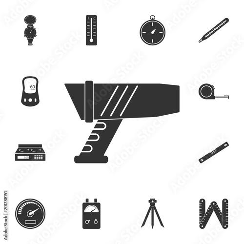 Police Speed Gun Icon Simple Element Illustration Police Speed Gun