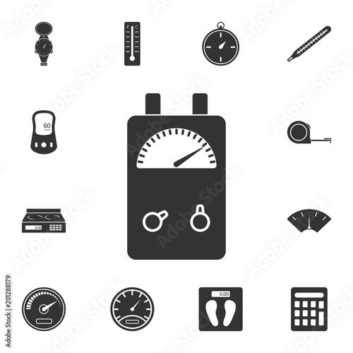 Farad Symbol On Multimeter : Voltage ampere meter tester icon simple element