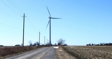 Wind Turbine Along A Country R...