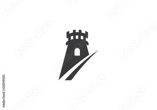 Leinwand Poster castle logo vector