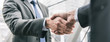canvas print picture - Businessman making handshake with partner