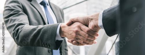 Valokuvatapetti Businessman making handshake with partner