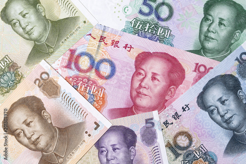 Chinese yuan, a background Canvas-taulu