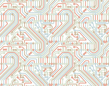 Motherboard Seamless Pattern V...