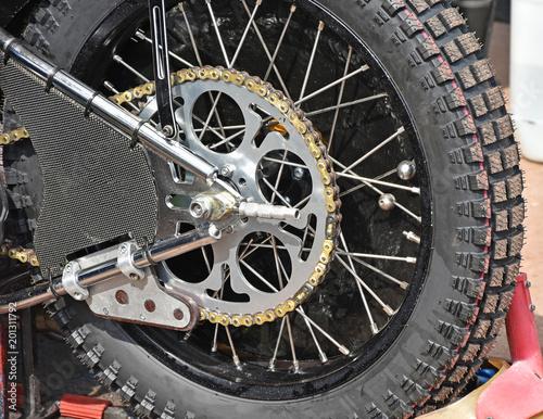 Fotografía Back tire of a speedway bike