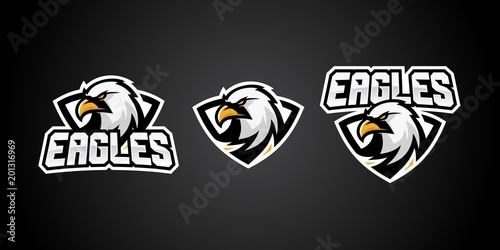 Fotografie, Obraz  eagle sport gaming logo vector badges emblem