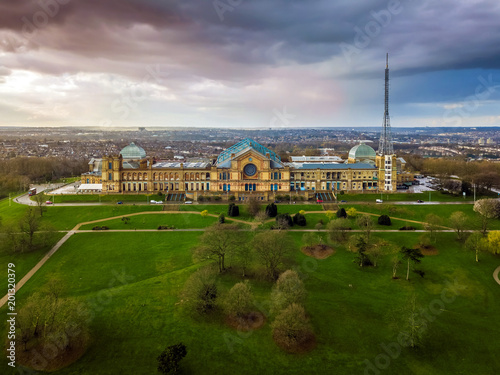 London, England - Aerial panromaic view of Alexandra Palace in Alexandra Park wi Wallpaper Mural
