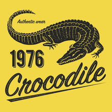 Crocodile Poster, Print For T-...