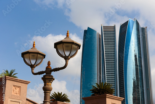 Staande foto Abu Dhabi Skyscrapers in Abu Dhabi, United Arab Emirates