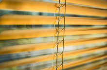 Modern Plastic Shutter Jalousie In A Room With Sunlight
