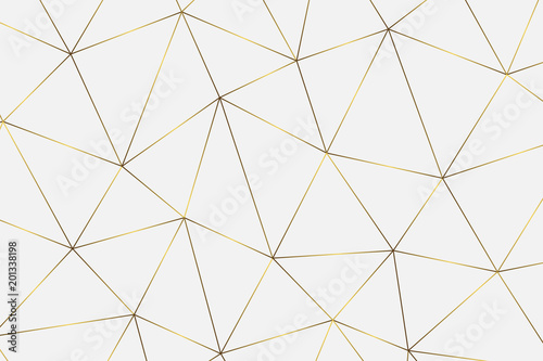 golden geometric background Fototapet