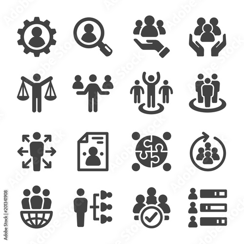 Fotografía  human resource icon set