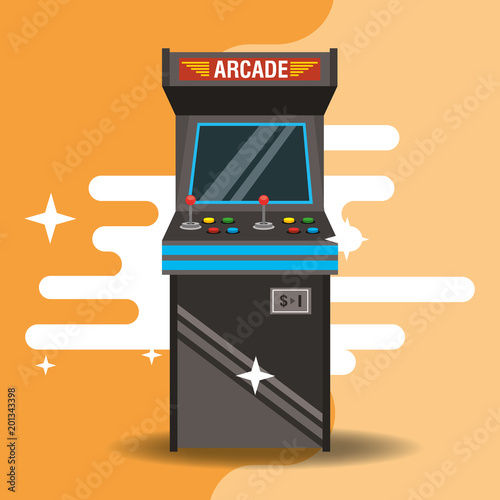 video game classic arcade machine vector illustration Fototapete