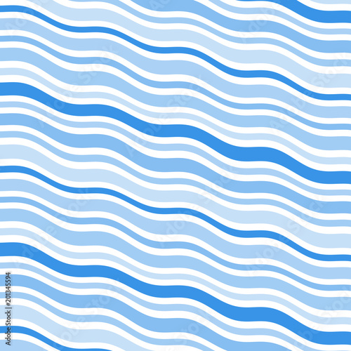 Fotografie, Obraz  Blue wavy background