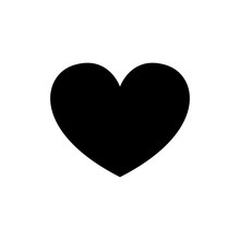 Heart Icon Vector On White Background.
