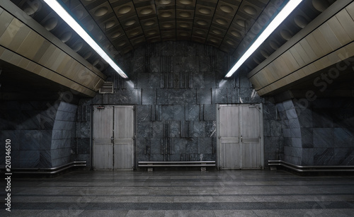 Empty urban, industrial background with copy space