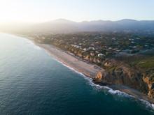 Malibu Coast Sunset Aerial Lan...