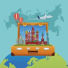 Russia Travel Poster Vector Il...