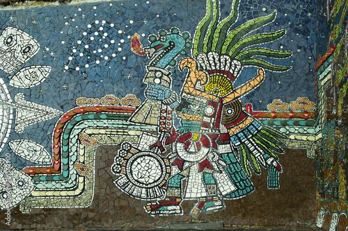 Tile and glass mural of Zacatlán de las manzanas, unique in Mexico, Puebla, Mexico © Nailotl