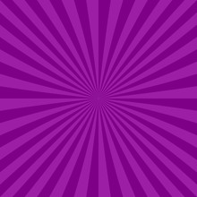 Purple Abstract Ray Burst Background From Radial Stripes - Vector Design