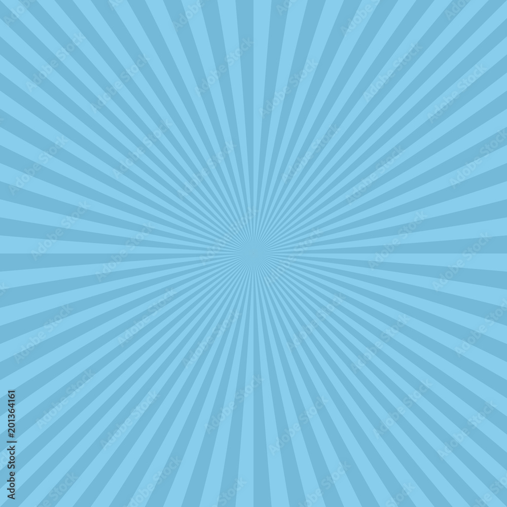 Light Blue Abstract Ray Burst Background From Radial Stripes