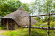 canvas print picture - Exterior view of Iron age hut on Isle of Arran, Scotland