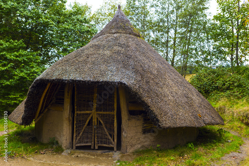 Exterior view of Iron age hut on Isle of Arran, Scotland Canvas Print