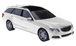 Large white family business car with a sporty and at the same time comfortable handling. 3d rendering.