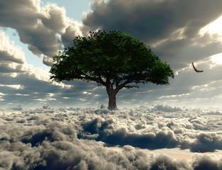 Naklejka 3D Sky tree