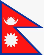 Nepal Flag Vector Flat Icon