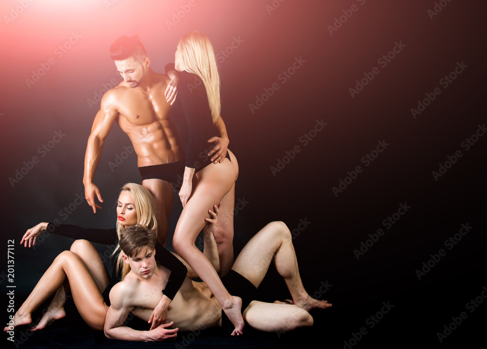 Fototapeta Family trust, polygamy, betrayal, swinger.