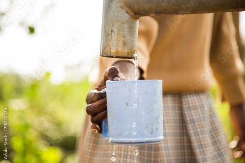 Garden Poster Africa Clean Water Africa Poverty Black hand Water Cup