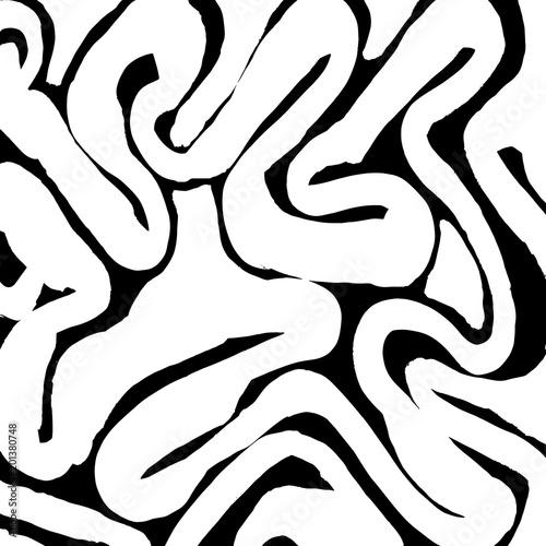 Fototapety, obrazy: Brush stroke pattern. Watercolor.