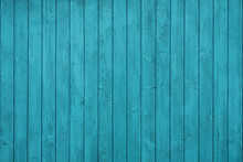 Texture Of Vertical Boards In Blue Fence
