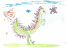 Children's Drawing With Colore...