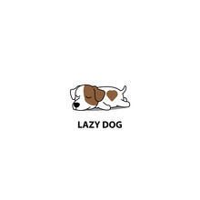 Lazy Dog, Cute Jack Russell Te...
