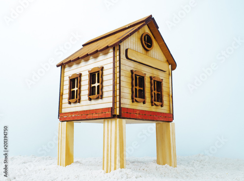 Model traditional wooden house on stilts Canvas-taulu