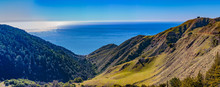 Pacific Ocean Overlook - Big Sur, California, February 16, 2018:  View Of The Pacific Ocean And Pacific Coast Highway From Los Padres National Forest Nacimiento-Fergusson Road Intersection.