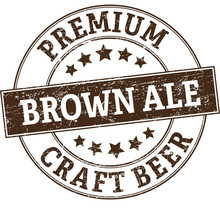 Brown Ale Premium Craft Beer Stamp
