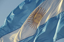Argentine Flag In The Wind
